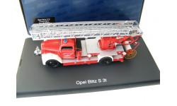 Opel Blitz S 3t пожарная лестница с насосом. Редкий Шуко!, масштабная модель, SCHUCO, scale43