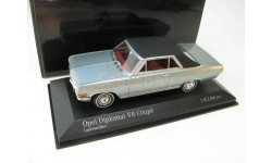 Opel Diplomat V8 coupe Silver 1965 г., масштабная модель, 1:43, 1/43, Minichamps