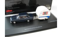 Opel Kadett B with Knaus Schwalbennest dark blue, масштабная модель, 1:43, 1/43, SCHUCO