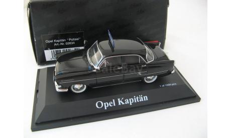 Opel Kapitan 'Polizei'. Редкий Шуко!, масштабная модель, SCHUCO, scale43