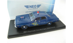 Plymouth Fury 1977 Michigan State Police, масштабная модель, 1:43, 1/43, Neo Scale Models