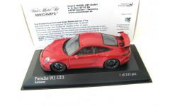 Porsche 911 (991) GT3 2017 carmine red, масштабная модель, Minichamps, scale43