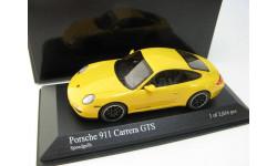 Porsche 911 (997 II) Carrera GTS 2011 yellow, масштабная модель, 1:43, 1/43, Minichamps