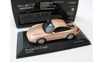 Porsche 911 Coupe 2001 salmon silver, масштабная модель, scale43, Minichamps