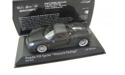 Porsche 918 Spyder Weissach-Package 2015 mat black, масштабная модель, Minichamps, scale43