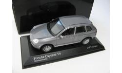Porsche Cayenne V6 grey metallic 2003 г., масштабная модель, 1:43, 1/43, Minichamps