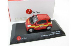 Toyota IQ Fire Department Essex County (UK) red/yellow 2009 г. SALE!, масштабная модель, 1:43, 1/43, J-Collection