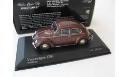 VW 1200 brown 1953 г., масштабная модель, 1:43, 1/43, Minichamps, Volkswagen