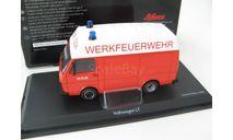 VW LT35 MAN WERKFEUERWEHR (пожарный фургон с высокой крышей) 1975г. Редкий Шуко!, масштабная модель, 1:43, 1/43, SCHUCO, Volkswagen