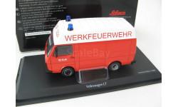 VW LT35 MAN WERKFEUERWEHR (пожарный фургон с высокой крышей) 1975г. Редкий Шуко!