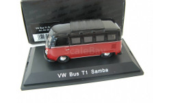 VW T1 Bus Samba black/dark red. Редкий Шуко!