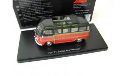 VW T1 Samba Bus Woody 1959 black / brown. Редкий Шуко!