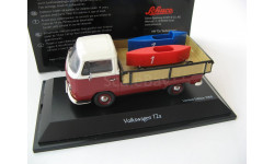 VW T2a platform truck with soapbox white/red/blue