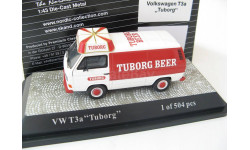 VW T3a Tuborg Beer red/white Limited Edition 504 pcs., масштабная модель, Premium Classixxs, Volkswagen, scale43
