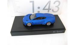 VW XL Sport 2015 blue, масштабная модель, Spark, Volkswagen, scale43