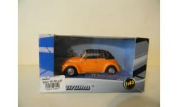 VW BEETLE CABRIOLET, масштабная модель, VW BEETE CABRIOLET, 'CARARAMA/HONGWELL', 1:43, 1/43