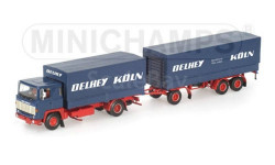 1/43 SCANIA LB 111 PRITSCHENZUG 'DELHEY' Minichamps 499123820