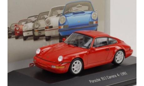 Porsche 911 Carrera 4 - 1991, масштабная модель, 1:43, 1/43, Atlas