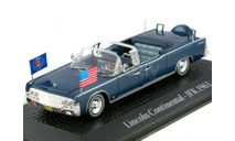 Lincoln Continental Limousine SS-100-X J.F. Kennedy 1963, темно-синий, масштабная модель, 1:43, 1/43, Atlas