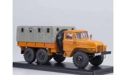 Урал 375Д бортовой с тентом (оранжевый), масштабная модель, Start Scale Models (SSM), scale43