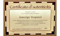 Amerigo Vespucci _ Сертификат+книжка _ Великие парусники - спецвыпуск, журнальная серия масштабных моделей, DeAgostini, scale0