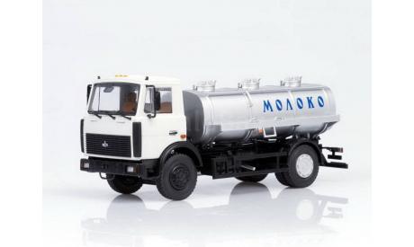 АЦИП-7,7 Молоко (МАЗ-5337 поздний) _ сер + серебр _ АИСТ _ 1:43, масштабная модель, 1/43, Автоистория (АИСТ)