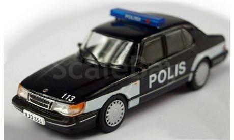 Saab 900 turbo _ ПММ-72 _ 1:43, журнальная серия Полицейские машины мира (DeAgostini), 1/43, Полицейские машины мира, Deagostini