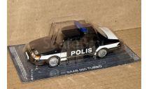 Saab 900 turbo _ ПММ-72, журнальная серия Полицейские машины мира (DeAgostini), 1:43, 1/43, Полицейские машины мира, Deagostini