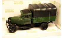 ГАЗ-АА + тент_ зелёный глянцевый с чёрным тентом _ НАП _ 1:43, масштабная модель, 1/43, Наш Автопром