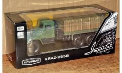 КрАЗ-255В с тентом зелёный _ Autotime _ 1:43, масштабная модель, Autotime Collection, scale43