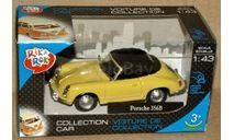 Porsche 356B Coupe закр _ жёлтый _ Cararama _ 1:43, масштабная модель, 1/43, Bauer/Cararama/Hongwell