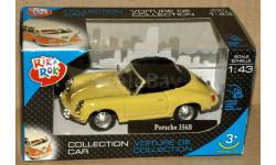 Porsche 356B Coupe закр _ жёлтый _ Cararama _ 1:43