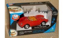 Porsche 505A Spyder _ красн _ Cararama _ 1:43, масштабная модель, 1/43, Bauer/Cararama/Hongwell