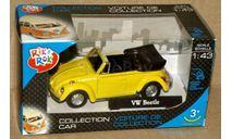 Volkswagen Beetle Cabriolet откр _ жёлтый _ Cararama _ 1:43, масштабная модель, Bauer/Cararama/Hongwell, scale43
