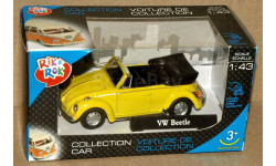 Volkswagen Beetle Cabriolet откр _ жёлтый _ Cararama _ 1:43