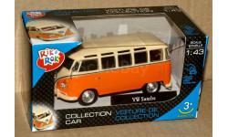 Volkswagen Samba minibus _ оранжевый + бежевый _ Cararama _ 1:43