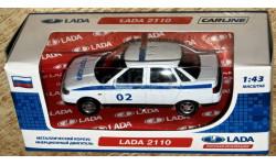 ВАЗ-2110 (Lada 110) полиция _ CarLine _ 1:43