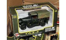 ГАЗ-4пикап_ зелёный матовый с зелёным тентом _ НАП, масштабная модель, scale43, Наш Автопром