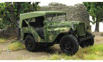 ГАЗ-64 _ с поднятым тентом, камуфляж _ НАП _  без коробки, масштабная модель, 1:43, 1/43, Наш Автопром