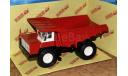 БелАЗ-548 самосвал красный + белый  _ НАП, масштабная модель, Наш Автопром, scale43