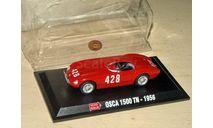 Osca MT4 1500TN № 428 (1956) (Giulio Cabianca, 9th; S1.5 category – 1st) _ MM-20 _ 1:43, журнальная серия масштабных моделей, 1/43, Mille Miglia