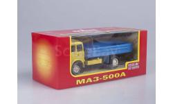МАЗ-500А (1970 г.в.) бортовой _ жёлтая кабина, синий кузов _ НАП