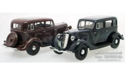 ГАЗ-М1_ тёмно-вишнёвый _ НАП _ 1:43, масштабная модель, 1/43, Наш Автопром