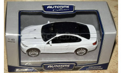 BMW M3 Coupe (2008) _ белый _ Autotime _ 1:43, масштабная модель, 1/43, Autotime Collection
