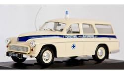 Warszawa203 Ambulans _ Скорая помощь _ PRL-s01 _ 1:43, журнальная серия Kultowe Auta PRL-u (Польша), 1/43, DeAgostini-Польша (Kultowe Auta)