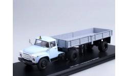 ЗИЛ-130В1-76 с полуприцепом ОДАЗ-885 (голубой+серый) _ SSM _ 1:43, масштабная модель, 1/43, Start Scale Models (SSM)