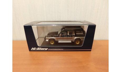 Nissan SAFARI 1987(black/silver), масштабная модель, Hi-Story, 1:43, 1/43