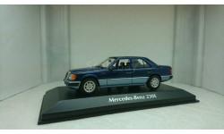 Mercedes-Benz 230 E W124 1991 blue  metallic, масштабная модель, Minichamps, 1:43, 1/43