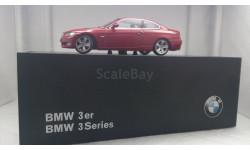 BMW 3er  E92 red, редкая масштабная модель, Autoart, 1:43, 1/43