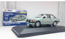 Ford Escort Mk3 1.6 Ghia 1980 Crystal Green  Metallic, редкая масштабная модель, Corgi, scale43
